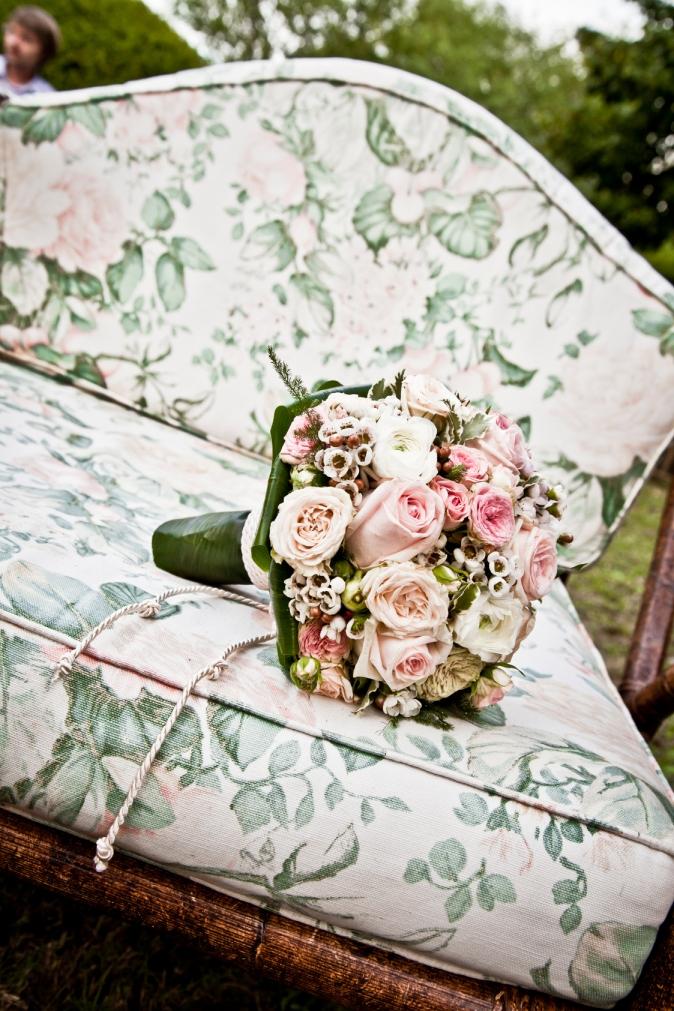 Wedding in Tuscany. Bridal bouquet