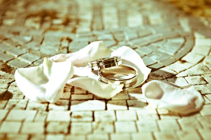 Wedding in Italy. Wedding rings