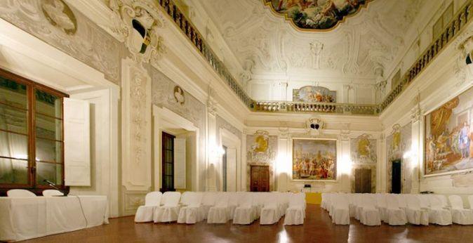 Один из залов во дворце в центре Флоренции
