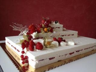 Свадебный торт-мороженое.