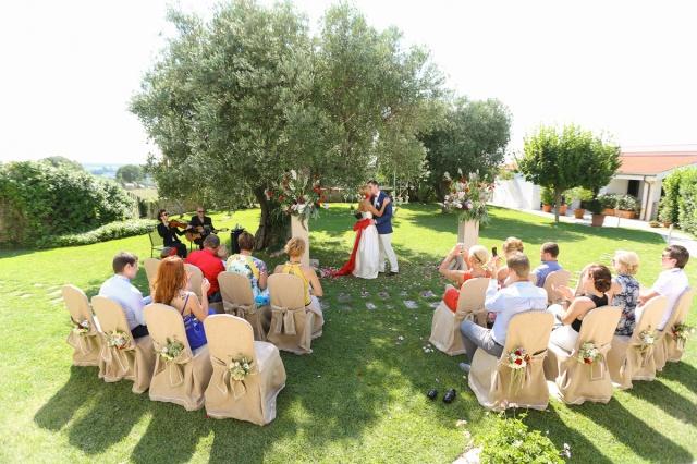Свадьба в Апулии. Символическая церемония в саду / Wedding in Puglia. Symbolic ceremony in the garden