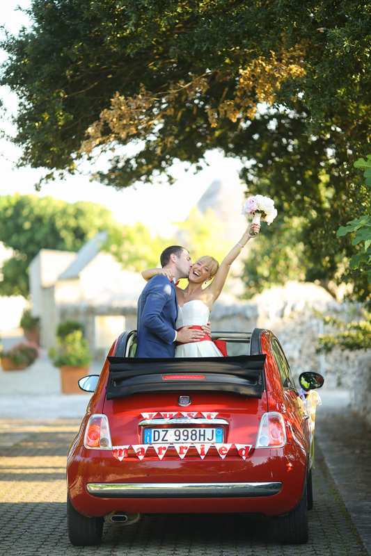Свадьба в Апулии. Свадебная машина Fiat 500 Cabrio. Wedding in Puglia. Wedding car Fiat 500 Cabrio