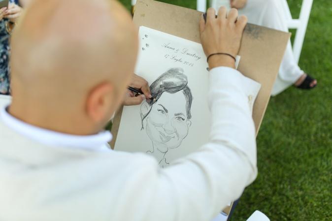 Свадьба в Апулии. Карикатурист на свадьбу, развлечения на свадьбу / Wedding in Puglia. Wedding cartoonist, wedding entertainment