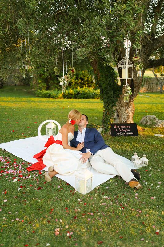 Свадьба в Апулии. Фотозона на свадьбу./ Wedding in Puglia. Photobooth for wedding