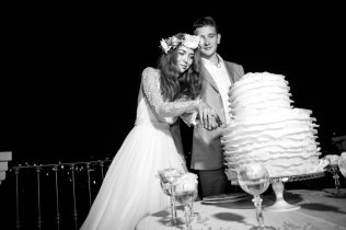 Свадебный торт. Свадьба на озере Комо