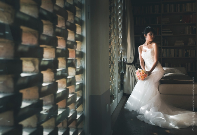 Свадьба в Италии - свадебное платье Pronovias