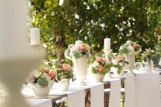 Свадьба в Тоскане. Цветочное оформление стола / Wedding in Tuscany. Wedding table flower decor