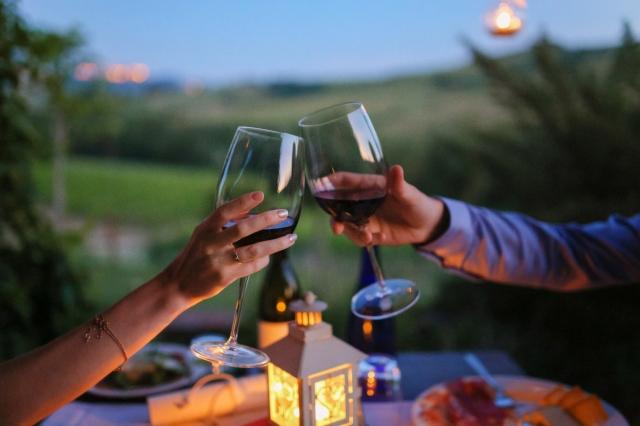Свадьба в Тоскане. Ужин на двоих / Wedding in Tuscany. Wedding dinner for two