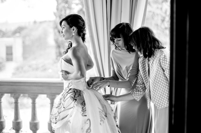 Wedding in Tuscany. Bride's getting ready