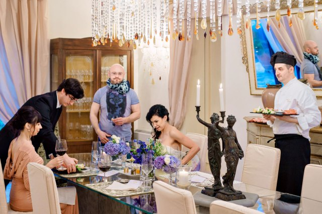 Wedding in Tuscany. Intimate dinner with private chef