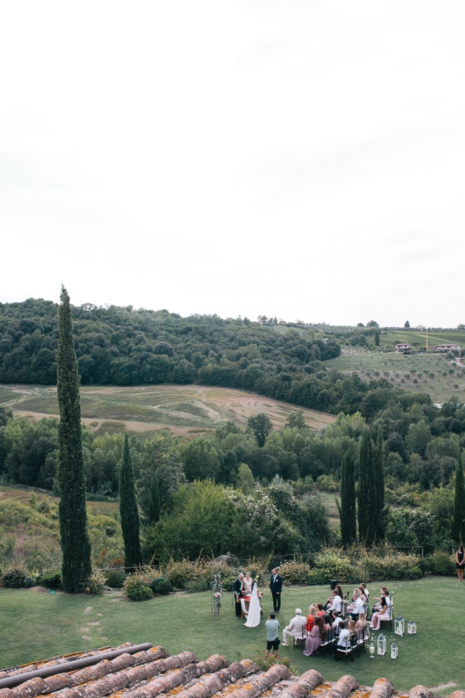 official wedding in tuscany italy at villa