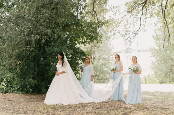 Wedding in Tuscany. Bridesmaids
