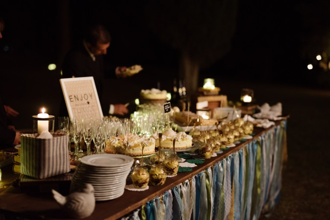 Wedding in Tuscany. Sweet table ideas