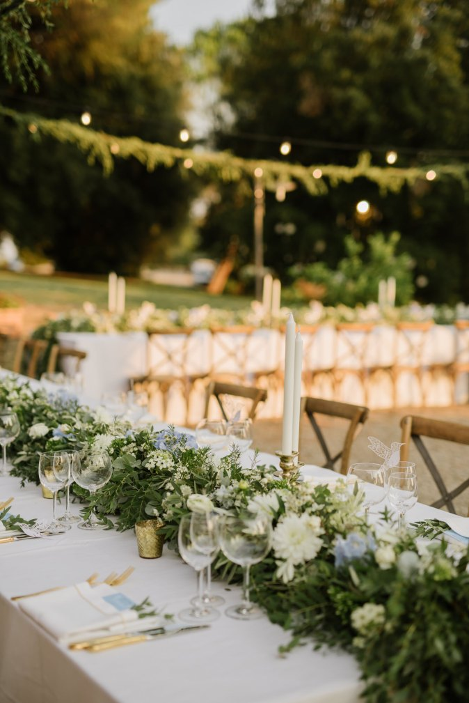 Wedding in Tuscany. Wedding table decor ideas
