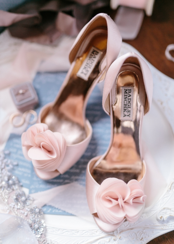 wedding shoes badgley mischka wedding in umbria