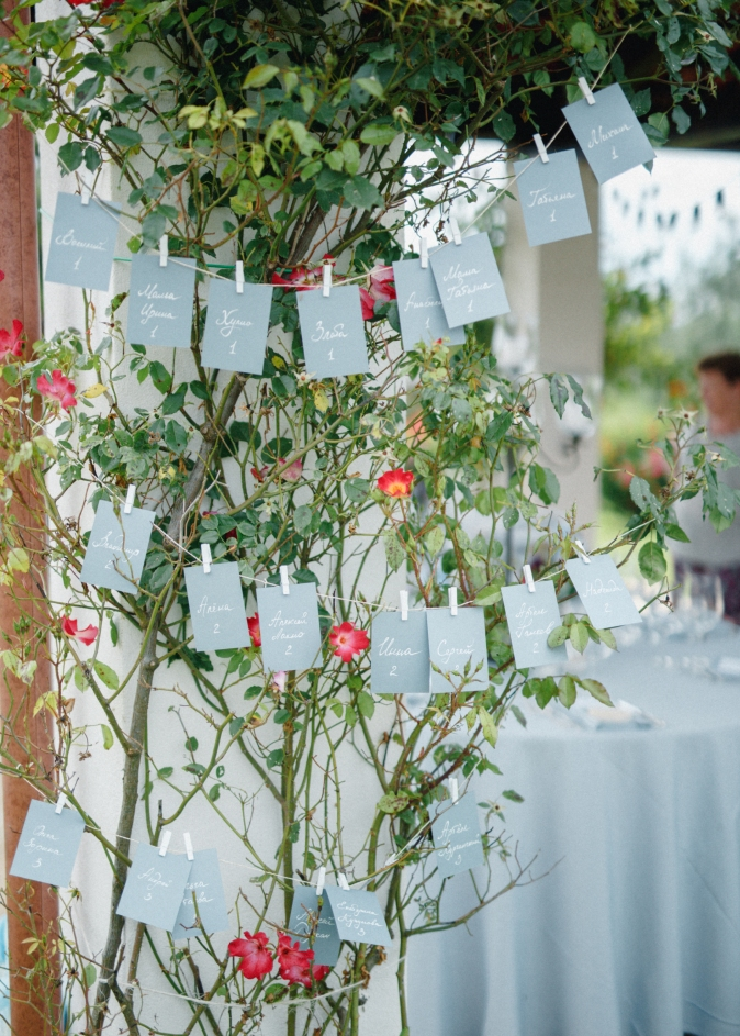 Table plan wedding in Umbria