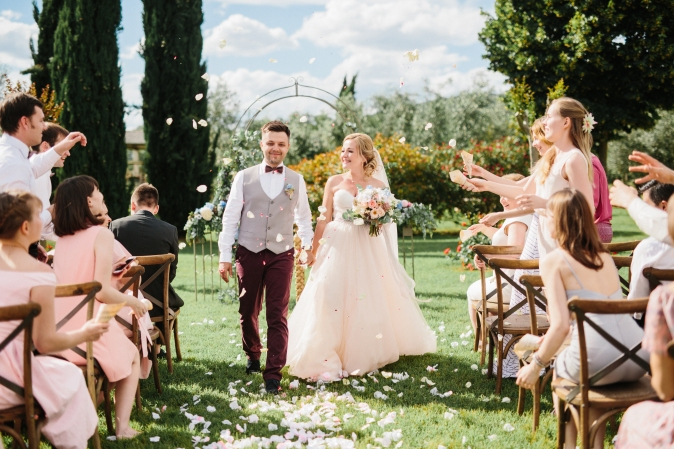 symbolic ceremony in italy wedding in umbria