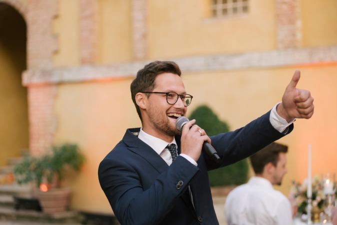 MC wedding at villa tuscany