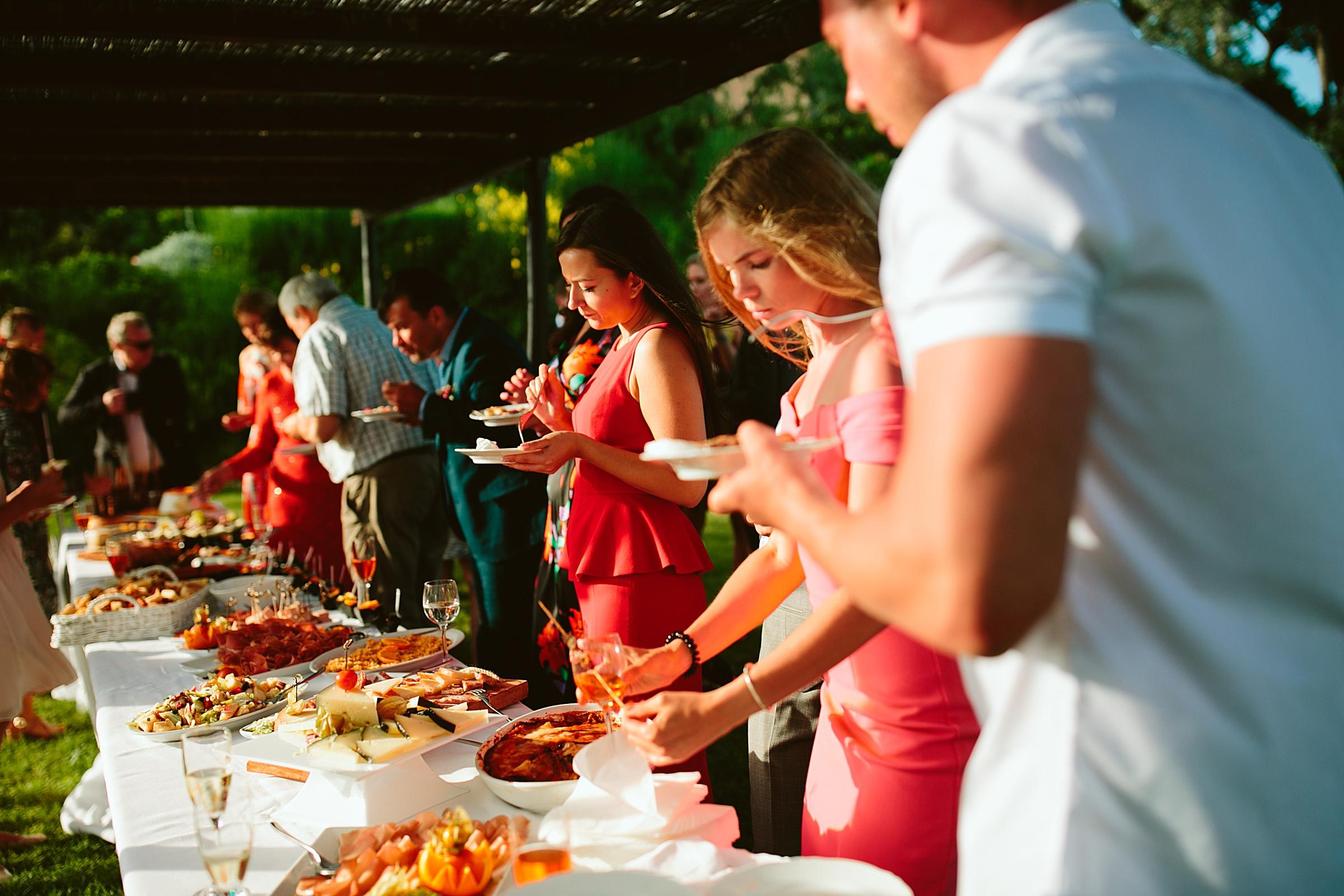 wedding buffet tuscany