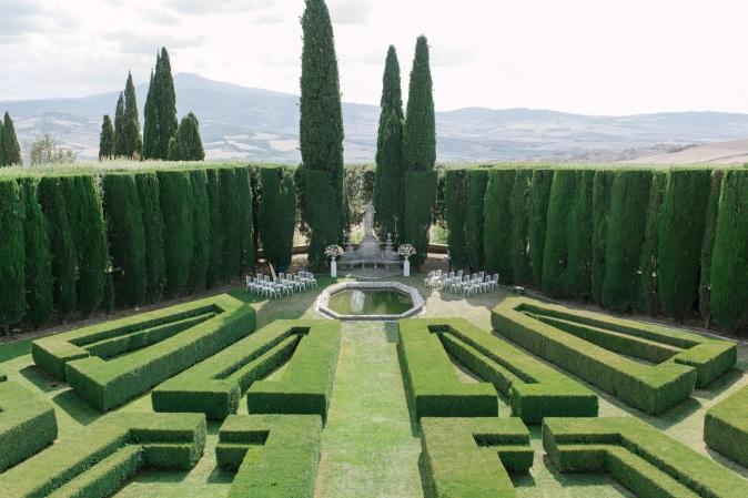 свадьба на вилле в италии